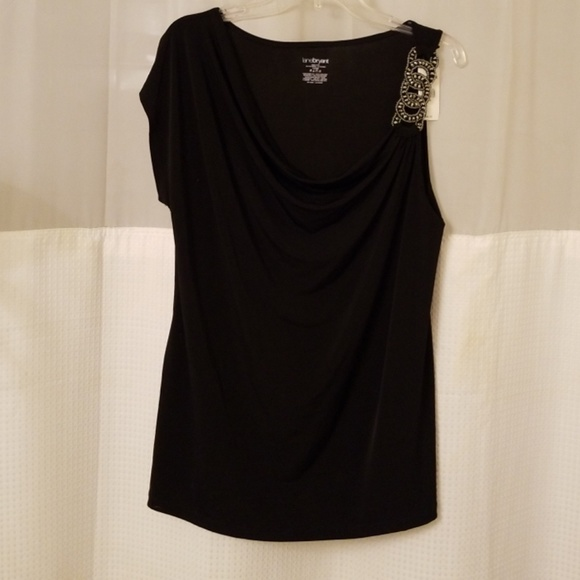 Lane Bryant Tops - LANE BRYANT NWT BEADED ACCENT TOP SIZE 14/16